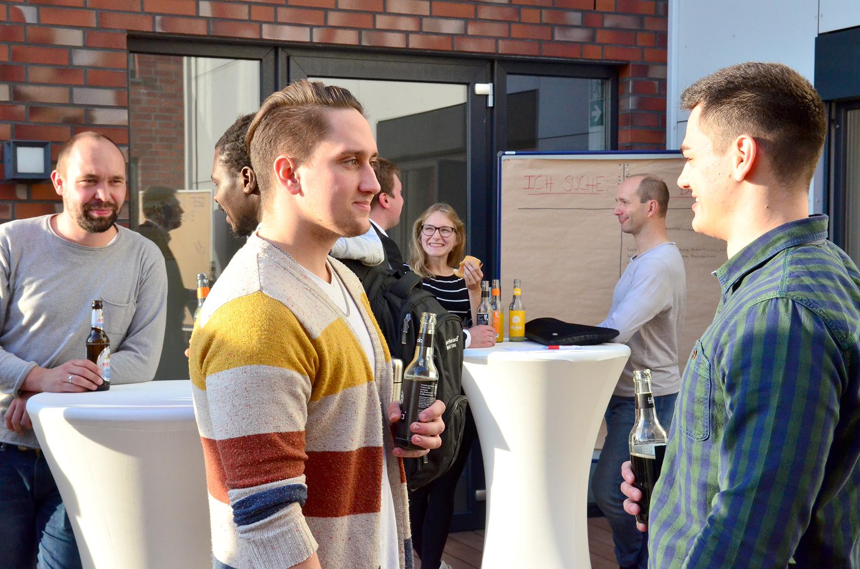 www.gruenden-aus-hochschulen.de/innovationslabor-muensterland/bewerben.  Fotos: FH Münster/ Pressestelle